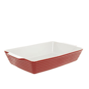 Rectangular oven dish in new bone China