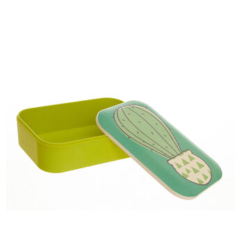 Cactus lunch box in bamboo fibres
