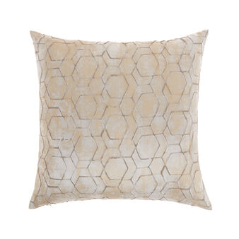 Cushion with geometric foil print 45x45cm