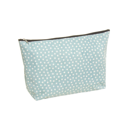 Beauty case canvas stelline