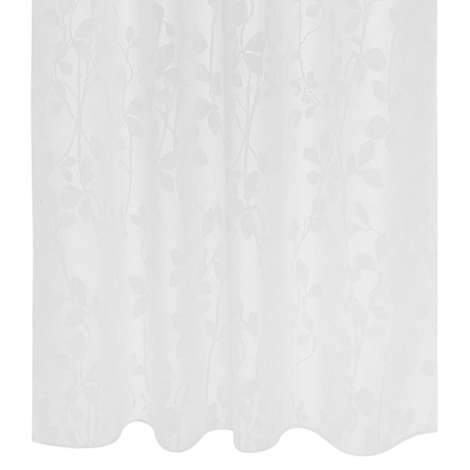 Floral devorè curtain with hidden loops