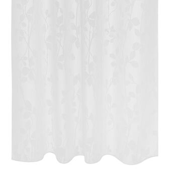 Floral devoré curtain with hidden loops