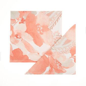 Set 4 tovaglioli puro cotone stampa rose