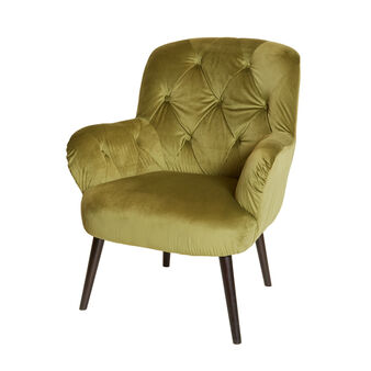 Poltroncina in velluto Green