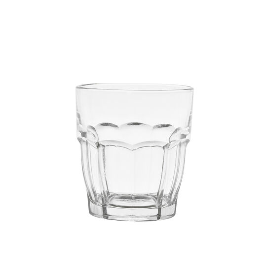 Fluted glass water tumbler