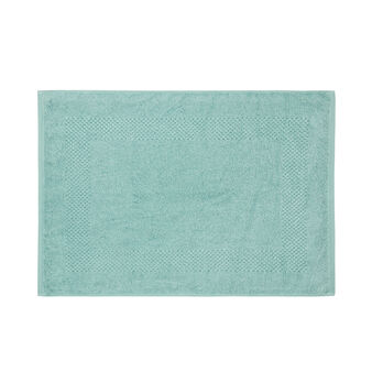 Solid colour 100% cotton shower mat