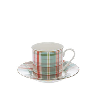 Tartan new bone China tea cup