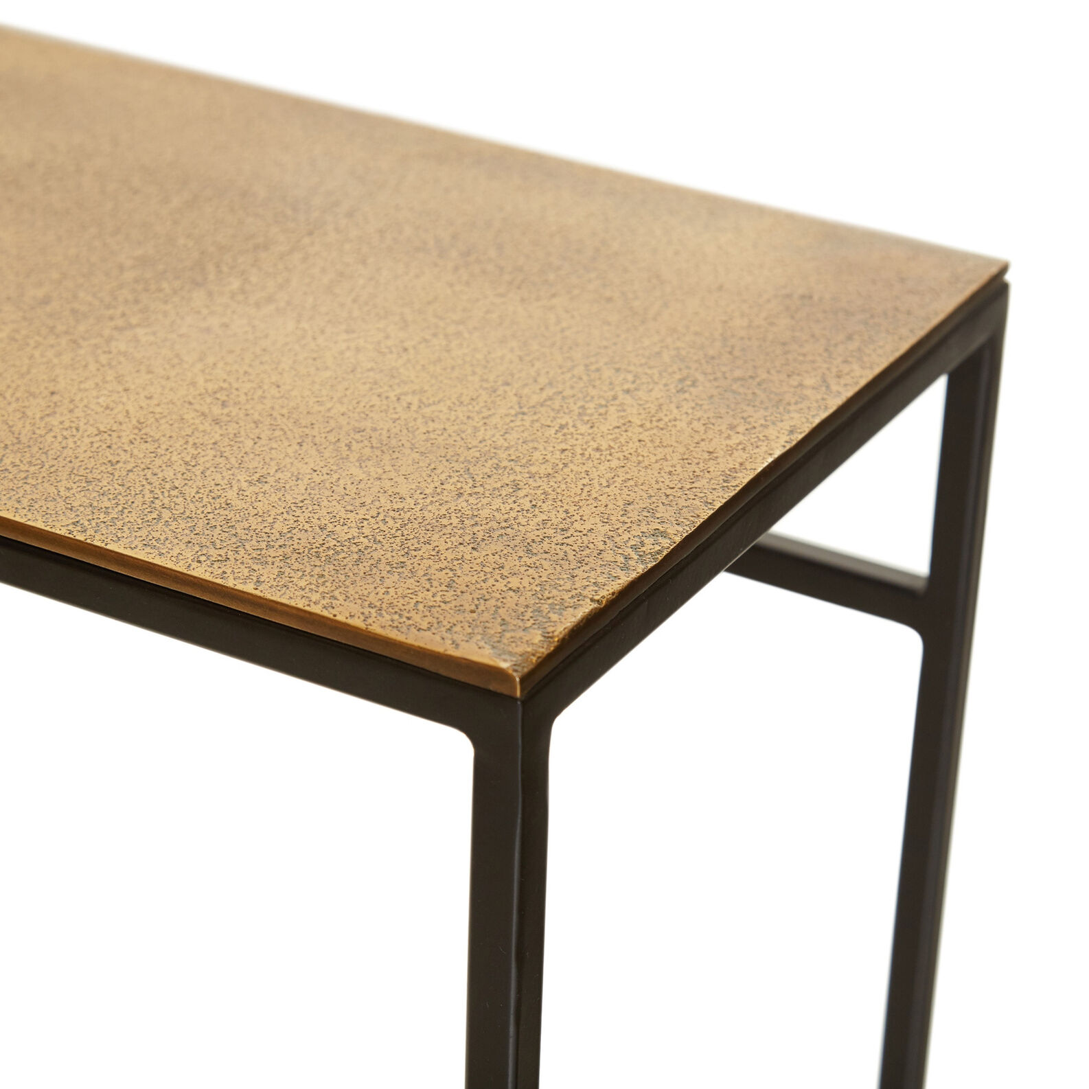 Consuelo console table in metal and brass