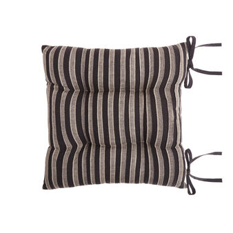 100% cotton striped seat pad