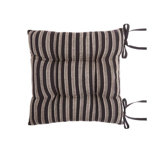 Cuscino da sedia puro cotone a righe