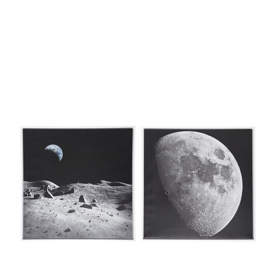Moon photo print painting