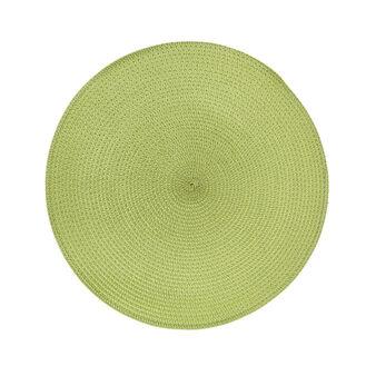 Woven paper fibre table mat