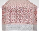100% cotton jacquard table runner with Morocco print