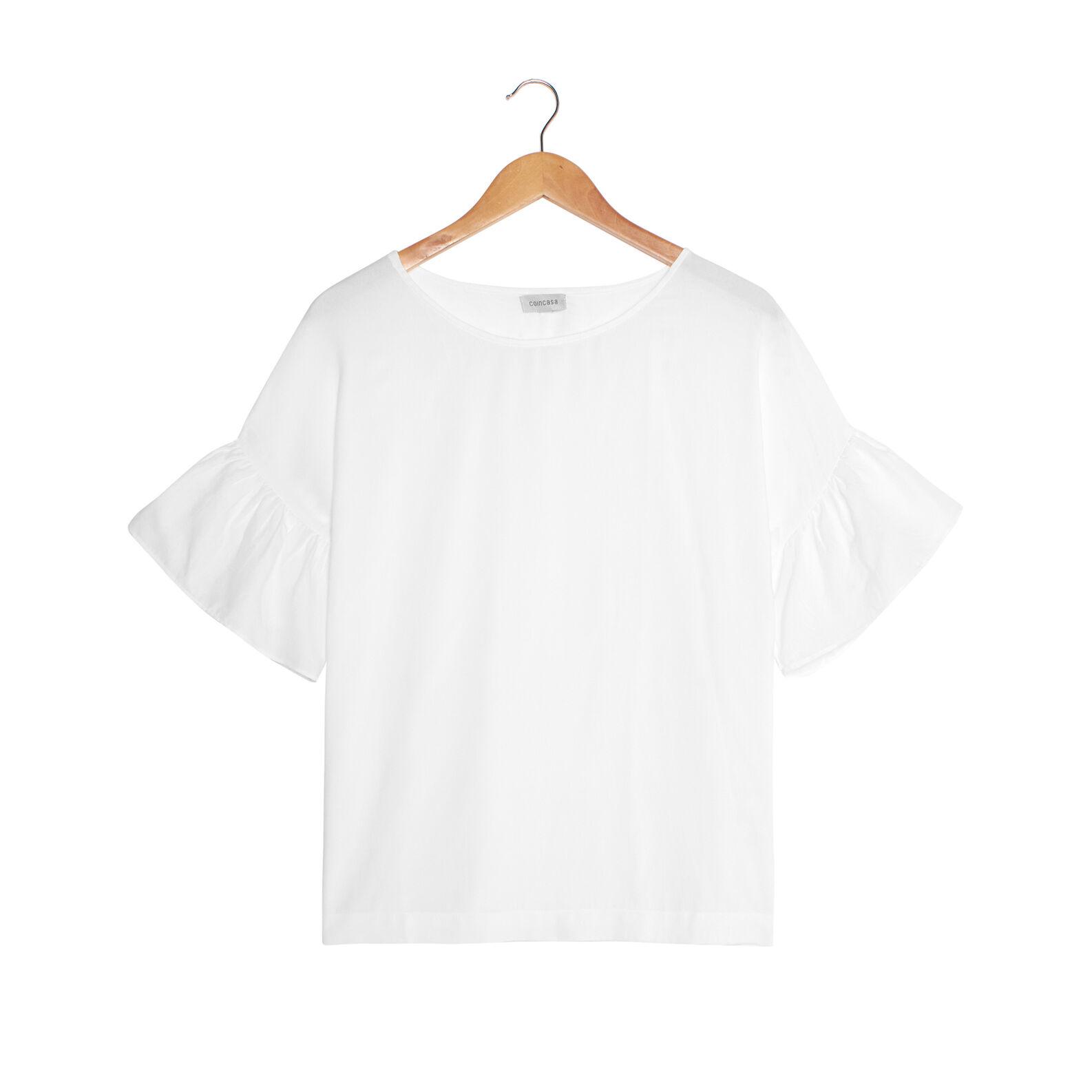 Maglietta viscosa con volant
