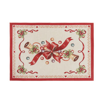 Gobelin fabric table mat with Christmas motif