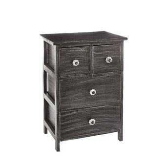 Mobile 4 drawers dark wood