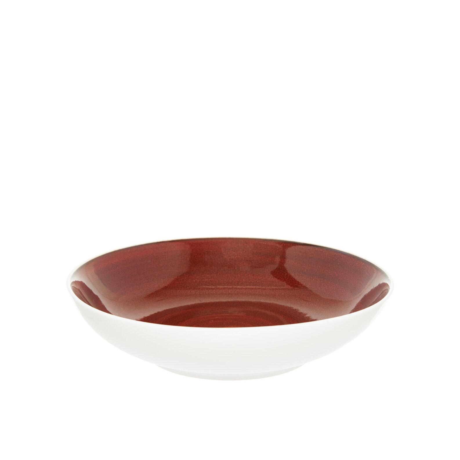 Speckled-effect porcelain soup bowl