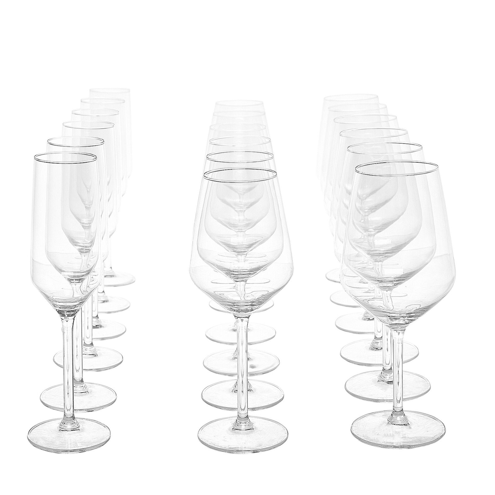 Set of 18 goblets in Alexa glass