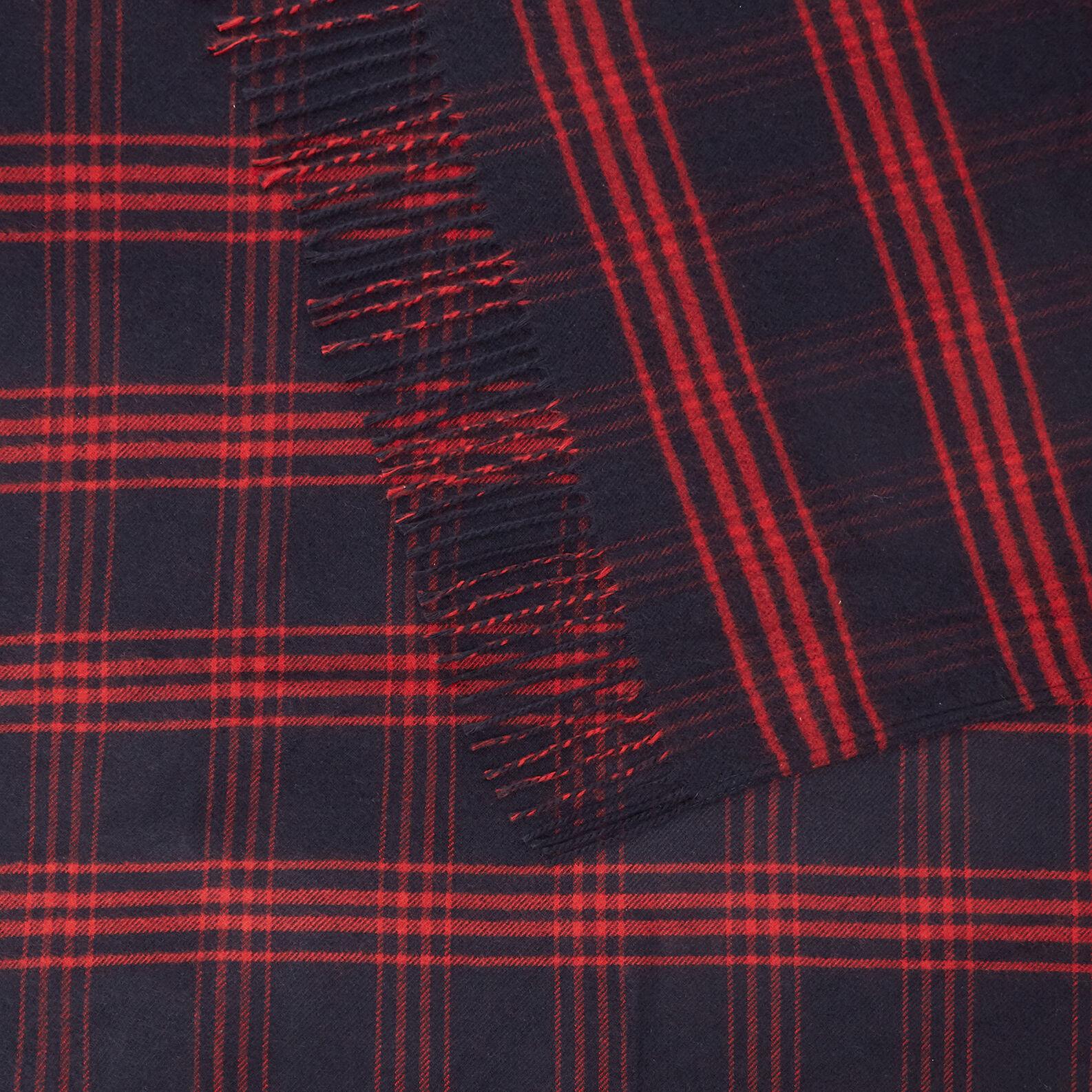 Check motif fabric throw