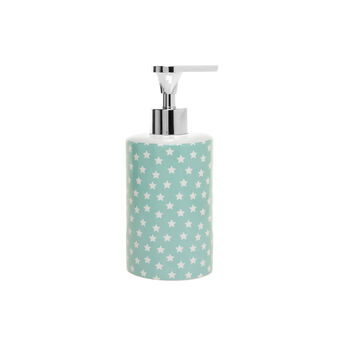 Light blue ceramic dispenser with small stars pattern