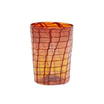 Bicchiere vetro di Murano decorazione a rete
