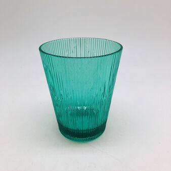 Green transparent striped glass