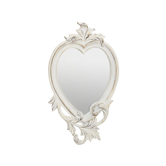 Specchio barocco a cuore effetto anticato