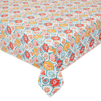 100% cotton tablecloth with majolica print