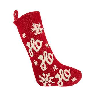 Calza natalizia maglia di cotone