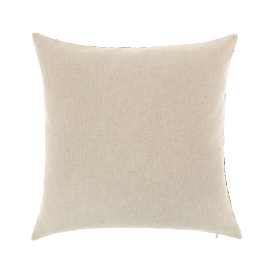 Cotton cushion  with jacquard leaves  45x45cm