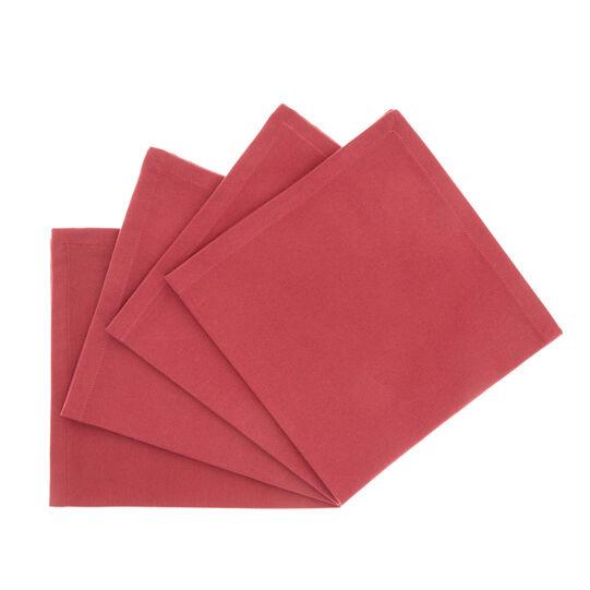 Set 4 tovaglioli twill di cotone tinta unita