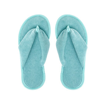 Solid colour cotton terry flip-flops