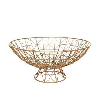 Fruit basket in enamelled iron