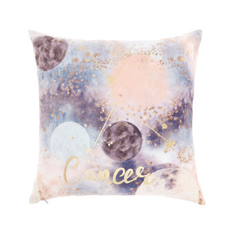 Cushion cover with Cancer print 45x45cm