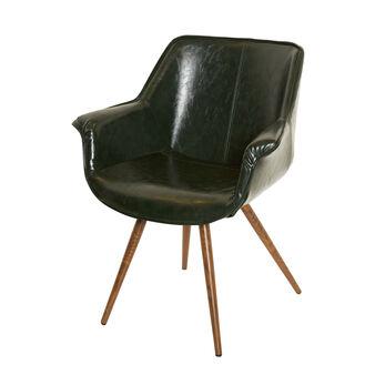 Secretary armchair in faux leather
