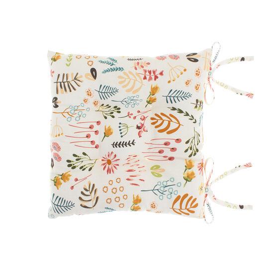 Cuscino da sedia puro cotone stampa natura