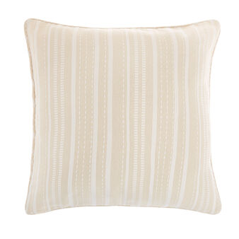 Striped pure cotton cushion