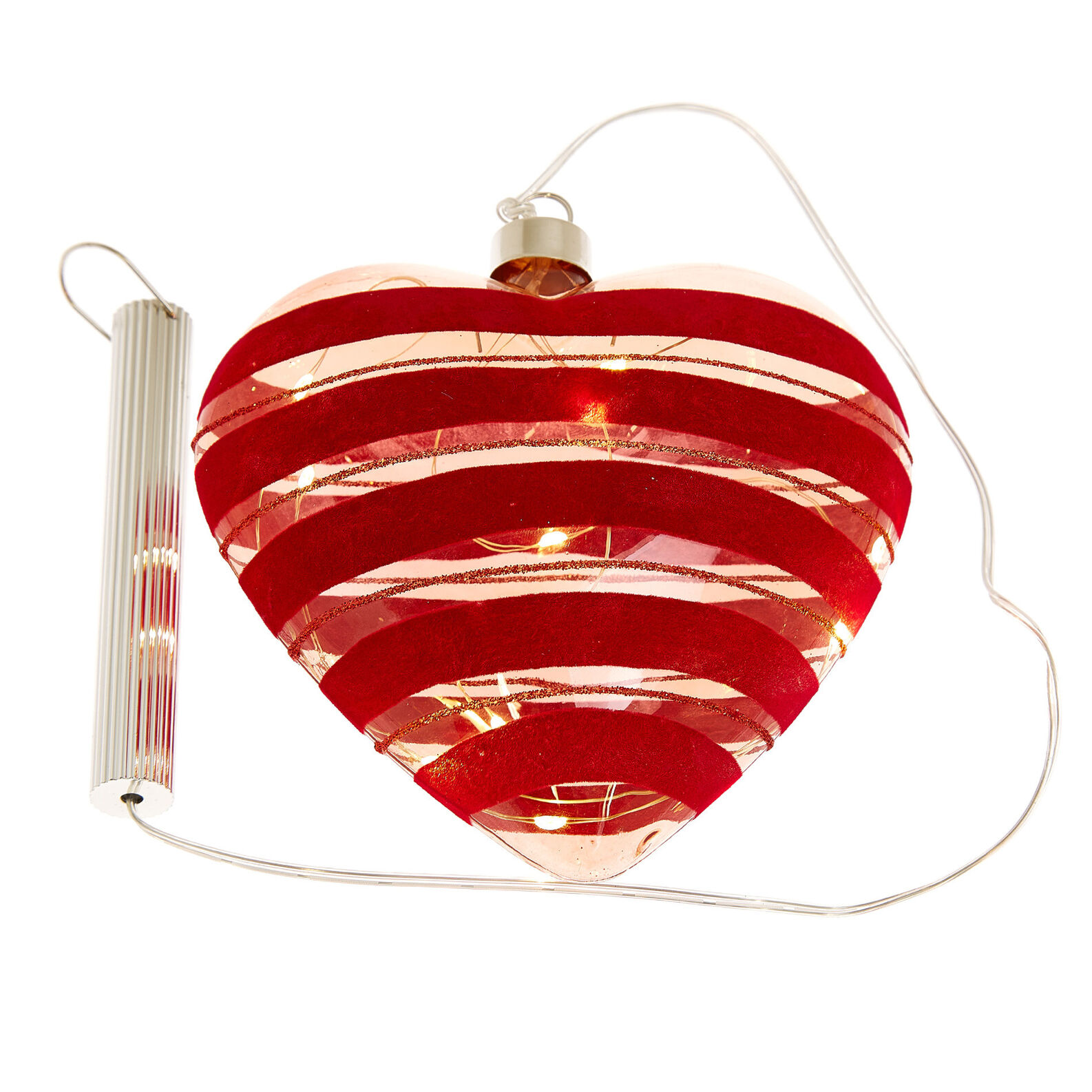Glass heart with LEDs