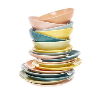 Set 18 piatti ceramica Pastello