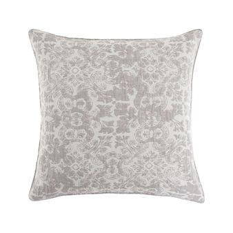 Jacquard cushion with ornamental pattern