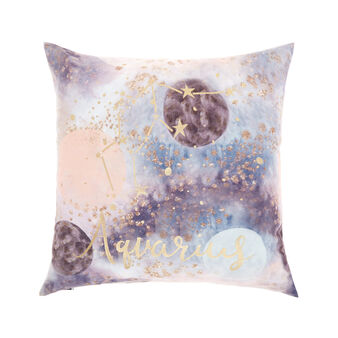 Cushion cover with Aquarius print 45x45cm