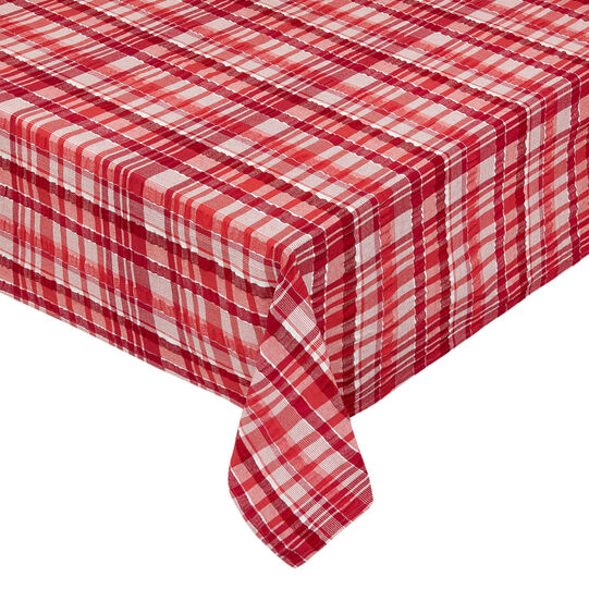 100% cotton check tablecloth