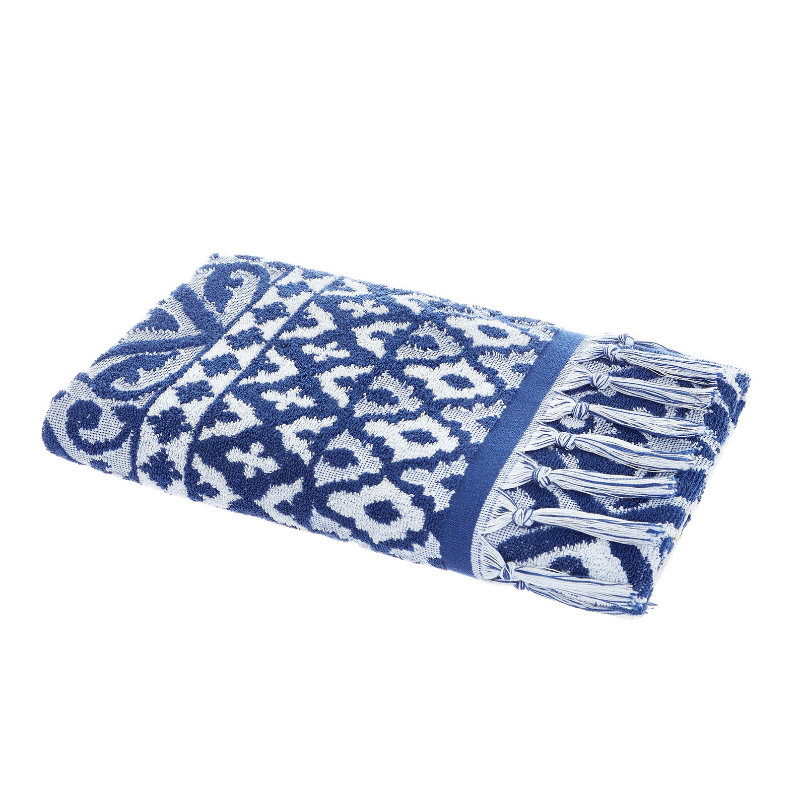 Asciugamano puro cotone jacquard maiolica