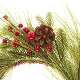Pine wreath with berries and pine cones