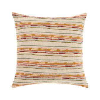 Jacquard cushion with braided threads 45 x 45 cm