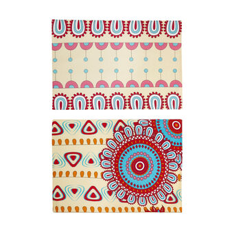 2-Pack table mats in 100% cotton with ethnic print