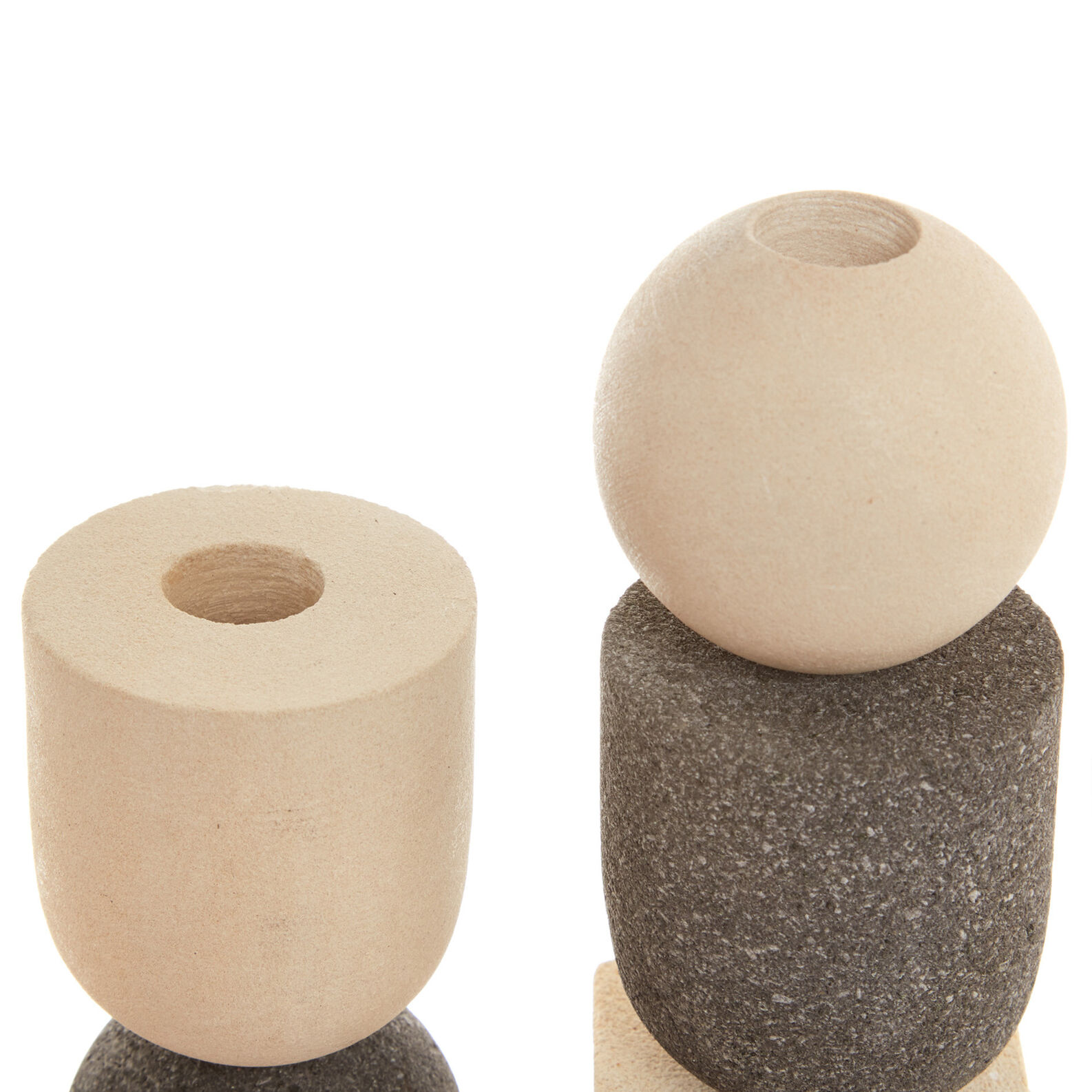 Candle holder in lava stone