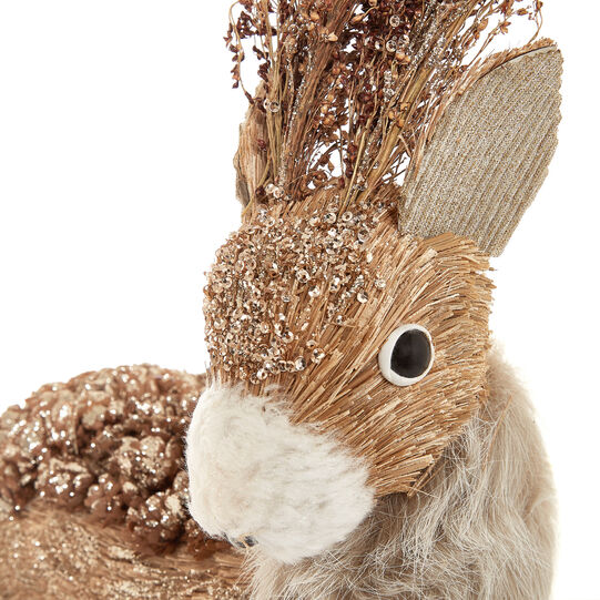 Decorative deer soft toy with pine cones