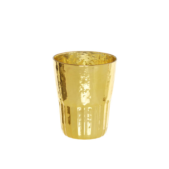 Gold glass tumbler