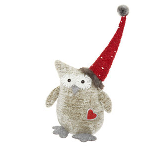 Decorative owl soft toy